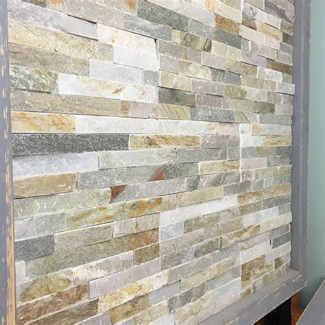 Tile And Warehouse by Oyster Mini Stepped 3d Slate Cladding Panel The