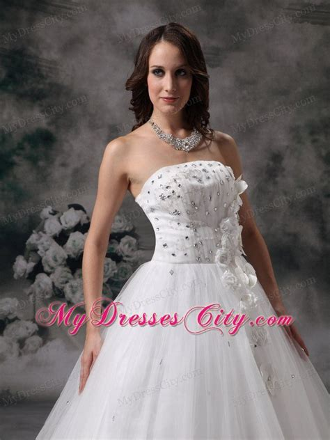 discount strapless   jewelry bridal dress