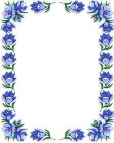 Blue Flower Border Clip Art Free