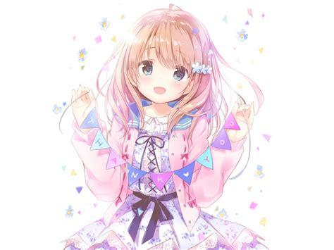 desktop wallpaper   blonde anime girl cute hd
