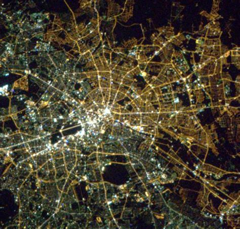 berlin from space still a divided city 25 years after