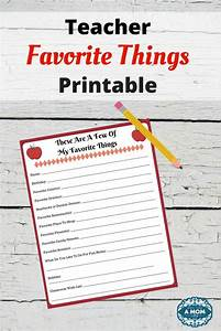 favorite things printable questionnaire