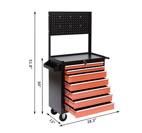 7 drawer rolling tool cabinet rolling tool chest cabinet cart toolbox storage box 7