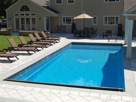 rectangle designs blue hawaiian fiberglass pools blue