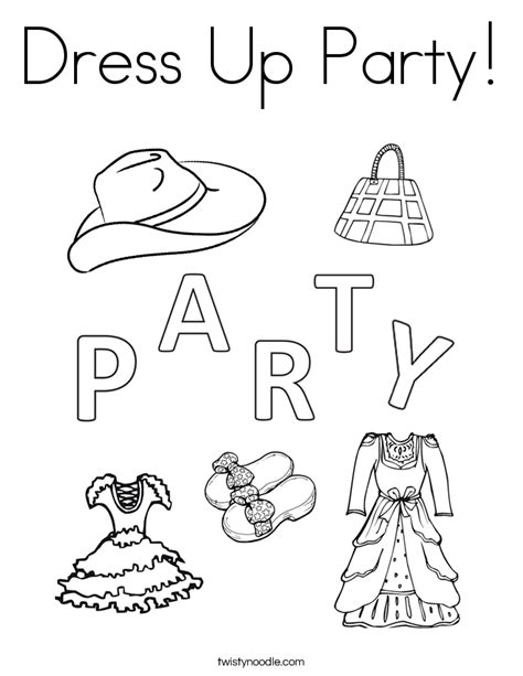 Dress Up Coloring Sheets Coloring Page Dress Up Coloring Page Twisty Noodle