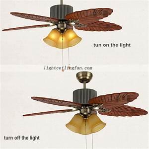 Inch bronze ceiling fan wood blades leaf