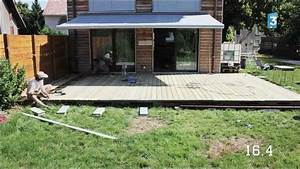 construction d39une terrasse en bois youtube With faire terrasse en beton