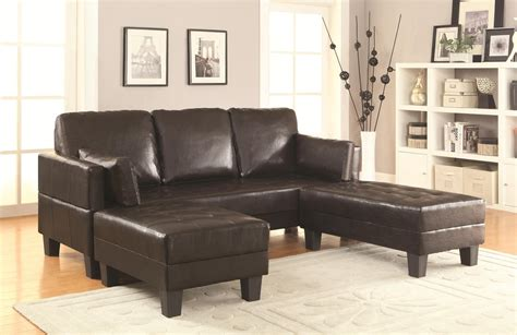 leather sofa and ottoman set coaster 300204 brown leather sofa bed and ottoman set