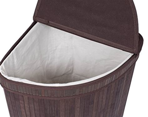 Birdrock Home Corner Laundry Hamper With Lid And Cloth