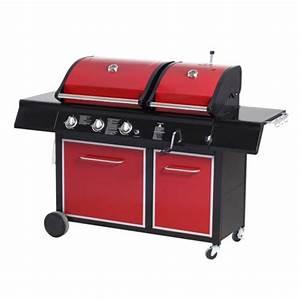 Barbecue Gaz Et Charbon : le barbecue barbecue duo mix gaz charbon 3 br leurs ~ Dailycaller-alerts.com Idées de Décoration
