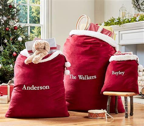 red santa sack for babies pictures velvet santa bags pottery barn