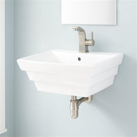 bowers porcelain wall mount sink bathroom