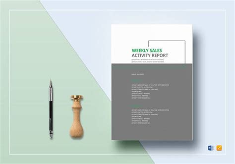 weekly report templates  google docs ms word