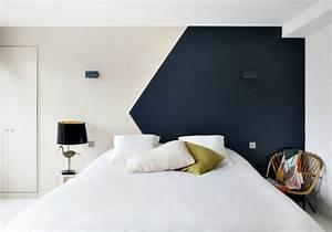 Comment Peindre Une Chambre En 2 Couleurs : nos astuces en photos pour peindre une pi ce en deux ~ Zukunftsfamilie.com Idées de Décoration