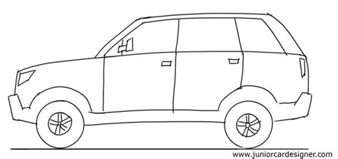 kid car drawing car drawing tutorial suv side view junior car designer