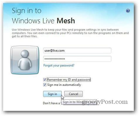 windows live mesh 2011 getting started