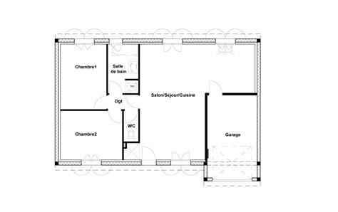 plan de maison 2 chambres plan maison 70m2 2 chambres