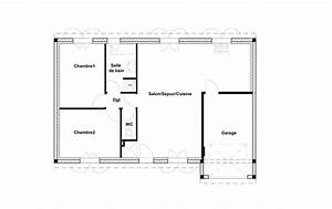 plan maison 70m2 3 chambres With plan maison plain pied 70m2