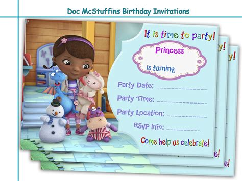 doc invitation template amazing doc mcstuffins birthday holidaypartystar
