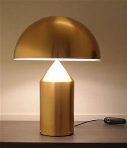 Vico Magistretti: Oluce Atollo 233 Gold Table Lamp: NOVA68 com