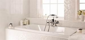 mosaique murale blanche salle de bain douche luxe four With mosaique murale salle de bain