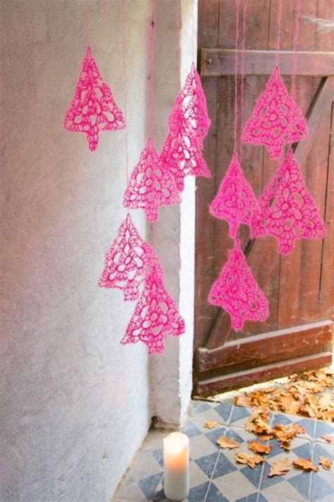 chic neon diy christmas trees  ornaments