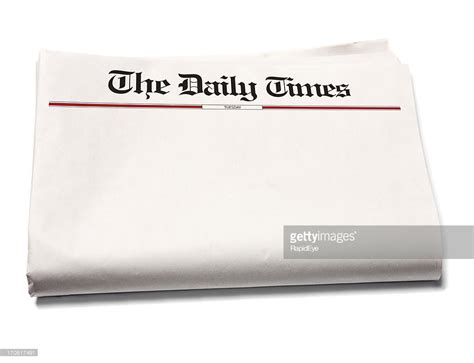 Blank Newspaper Stock Photo  Getty Images