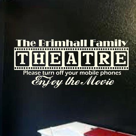 Get inspired to spruce up your home with designer wall art ideas. Cinema Theatre Customized Sign Home Movie Theater Vinyl ...
