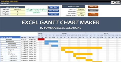 gantt chart maker gantt chart generator  excel
