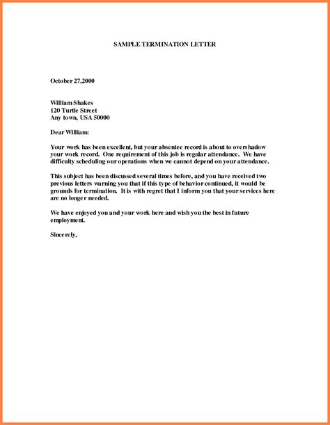 letter of termination of employment 6 letter of termination of employment marital 11458