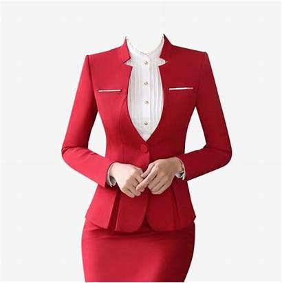 Formal Suit Collar Wear Attire Professional Skirt