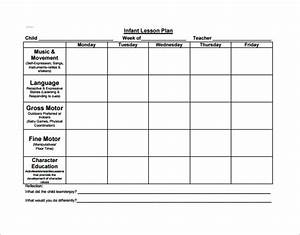 preschool lesson plan template 21 free word excel pdf With toddler lesson plan templates blank