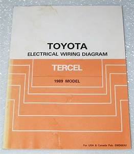 1989 Toyota Tercel Electrical Wiring Diagrams Shop Manual