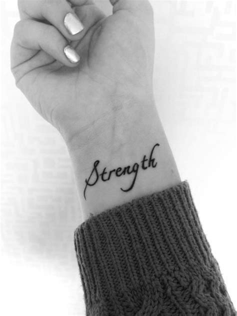 Cute wrist tattoo. My Name means Strength/Strong..would be a super cute tattoo! | Tattoos