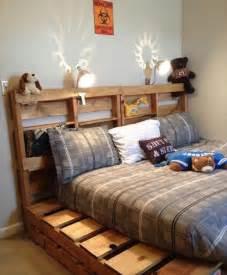 nature friendly pallet bed frame ideas diy furniture ideas