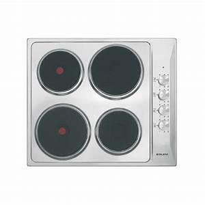 Plaque Gaz Et Electrique : plaque 4 feux lectrique inox ~ Nature-et-papiers.com Idées de Décoration