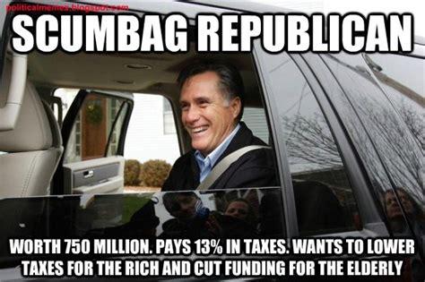 Republican Meme - political memes scumbag republican mitt romney