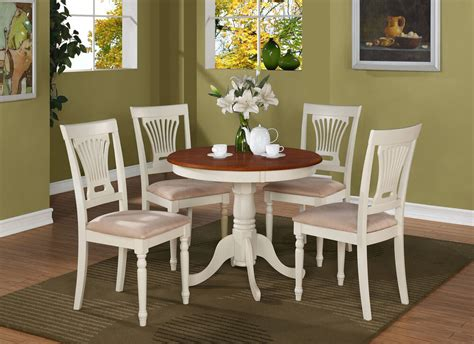 Kitchen Table Sets by 5pc Antique Dinette Kitchen Table Dining Set With 4