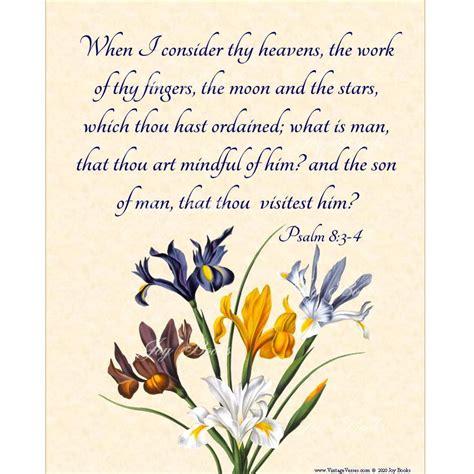 GOD THINKS Of US Psalm 8:3-4 Christian Home & Office Decor ...