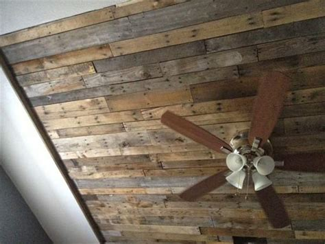 Diy Unfinished Basement Ceiling Ideas by Recycled Pallet Ceiling Ideas Recycled Pallet Ideas