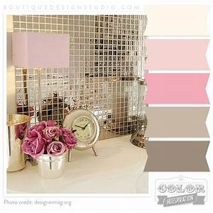 Pink cream rose brown warm grey color paletteliking for Pink and cream bathroom