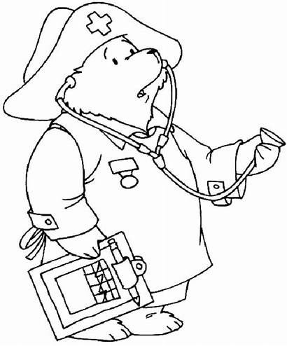 Nurse Coloring Doctor Paddington Pages Male Looking