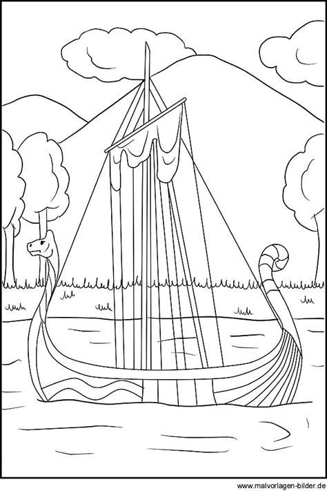 wikingerschiff als gratis ausmalbild fuer kinder
