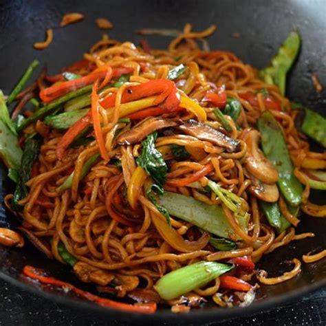 plat cuisiner vegetable lo mein recette cuisiner plat chaud et entrée