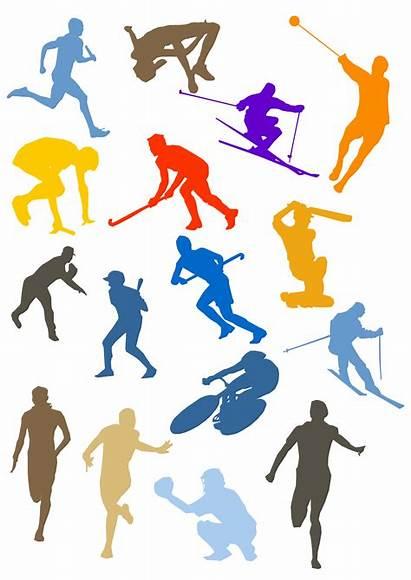 Silhouette Sport Disciplines Clipart Sports Different