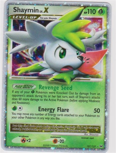 pokemon kaart shaymin x 127 127 holo foil card nm mint