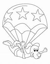 Parachute Coloring Pages Toodler Template Popular Sketch sketch template