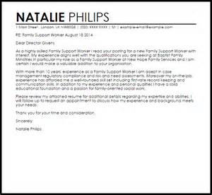 family support worker resume cover letter family support worker cover letter sle livecareer