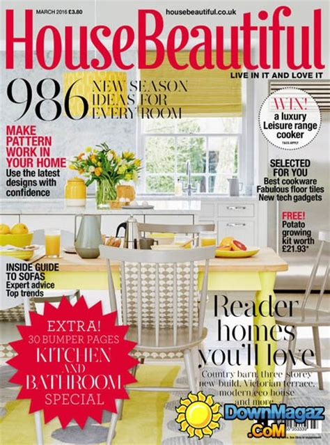 house beautiful uk march 2016 187 download pdf magazines