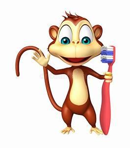 Dents Qui Se Déchaussent Photos : personnage de dessin anim de singe d 39 amusement avec la brosse dents illustration stock ~ Medecine-chirurgie-esthetiques.com Avis de Voitures